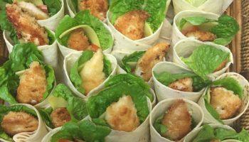 Mini Schnitzel Wraps