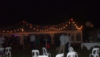 Marquee, Festoon Lighting, Bar tables & Stools etc