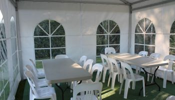 Trestle tables and Chairs